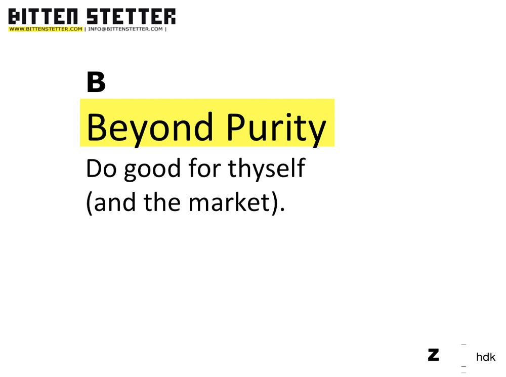 beyond purity